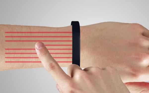 Fonctionnement du bracelet Cicret