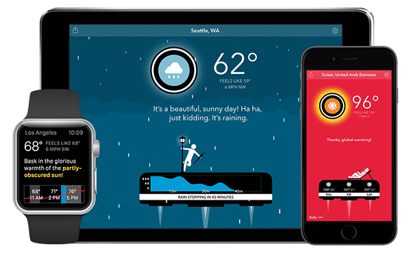 carrot weather application apple watch