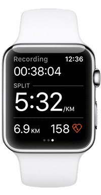 Application Strava Apple Watch