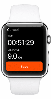 Application Stava Apple Watch